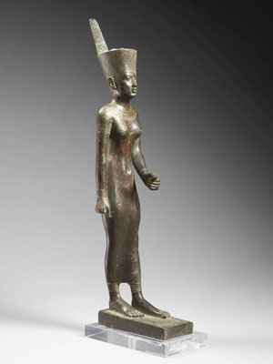 NEITH EN BRONZE, ÉGYPTE, XXVIe DYNASTIE, VERS 664-525 AV.J.C.
