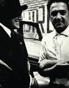William KLEIN (Né en 1928) Federico Fellini et Vittorio De Sica, circa 1957-1958 Tirage ...