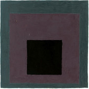 Josef ALBERS (1888-1976) HOMMAGE TO THE SQUARE, (BLACK, GREY), 1960-1965 Huile sur papie...