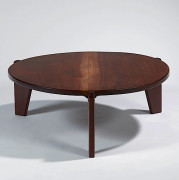 "Jean PROUVE & Charlotte PERRIAND (1901 -1984 & 1903 - 1999) Table basse dite ""Guéridon bas"", 1949"