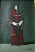 Diulio BARNABE (1914-1961) CARDINAL Huile sur toile