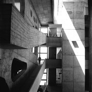 Sureh SHARMA () Plans inclinés High Court (Le Corbusier architecte) - circa 1955. Chandigarh.