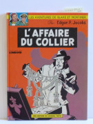 JACOBS Blake et Mortimer – N° 9 L'affaire du collier Lombard, 1967. Édition originale cartonnée belge. Superbe album en excel...