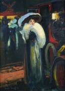 "LOUIS FORTUNEY ""PARISIENNE A LA SORTIE DU MOULIN ROUGE"""