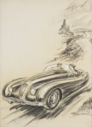 "GEO HAM ""COUPLE EN JAGUAR XK 120"""