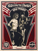 Shepard FAIREY (OBEY GIANT) (né en 1970 -) IGGY AND THE STOOGES - RAW POWER, 2010 Sérigraphie en couleurs