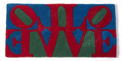 "ROBERT INDIANA (né en 1928) Tapis ""Love"""