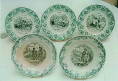 St Amand et Hamage - Assiettes en porcelaine  Collection André Lecoq