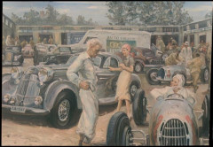 Horch et Auto-Union sur le paddock du Nürburgring  Collection André Lecoq