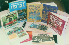 Cadillac, Stutz, Chevrolet, Chrysler, et divers livres et catalogues  Collection André Lecoq