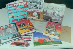 Panhard & Levassor, Peugeot, Simca, Delage, Facel, livres  Collection André Lecoq