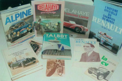 Delahaye, Hotchkiss, Talbot, Alpine, Renault, livres  Collection André Lecoq
