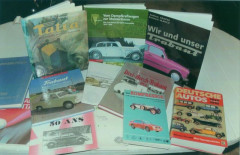 Tatra, DKW, Trabant, NSU, Steyr, Maybach et divers livres  Collection André Lecoq