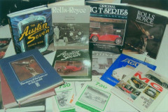 Rolls-Royce, Jaguar, MG, Austin et divers livres  Collection André Lecoq