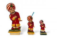AIR INDIA  Trois figurines publicitaires, fabrication contemporaine