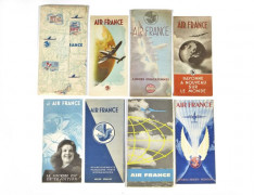 AIR FRANCE  Huit brochures publicitaires