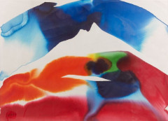 Paul JENKINS (1923 - 2012) PHENOMENA PRISM VISTA - 1987 Aquarelle sur papier