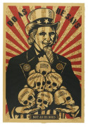 Shepard FAIREY (OBEY GIANT) Né en 1970 UNCLE SCAM - 2006 Sérigraphie en couleurs sur papier Cotton Rag Archival