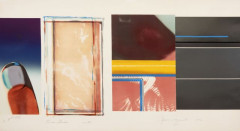 ¤ James ROSENQUIST Né en 1933 HORSEBLINDERS (SOUTH) - 1972