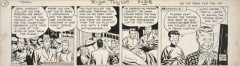 Milton CANIFF 1907 – 1988 TERRY AND THE PIRATES NO YAP FROM SAM THE TAP Encre de Chine et crayon pour un strip de cette séri...