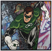 ¤ SEEN (Richard Mirando dit) Né en 1961 THE GREEN LANTERN POST NO BILLS - 2014 Peinture aérosol sur toile