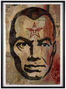 Shepard FAIREY (Alias OBEY GIANT) Né en 1970 BIG BROTHER - 2007 Pochoir, peinture aérosol, acrylique et collages sur papier