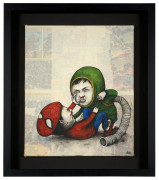 DRAN Né en 1979 FIGHT BOYS - 2011 Acrylique et collage sur toile