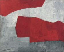 Serge POLIAKOFF (1900 - 1969) COMPOSITION - 1965 Huile sur toile