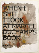 RERO Né en 1983 WHEN I SHIT I LOOK AT MARCEL DUCHAMP'S BOOK - 2013 Acrylique sur fond sérigraphique (HPM)