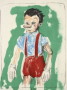 Jim DINE (Né en 1935) Pinocchio coming from the green - 2011
