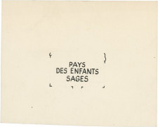 HERGÉ (Georges Remi dit) 1907-1983 Lettrages cartes neiges