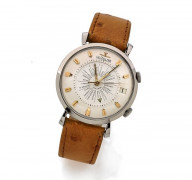 LECOULTRE  World Time Memovox, n° 1129435, vers 1950