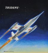 Paul LENGELLE (1908-1993), peintre de l'air  SO 9000 Trident