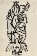 Jacques LIPCHITZ 1891 - 1973 ENSEMBLE DE TROIS DESSINS COMPOSITION A L'AIGLE