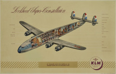 LOCKHEED SUPER CONSTELLATION - KLM  Affiche promotionnelle