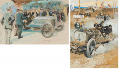 Gaston MAURIE (1872-1912)  Circuit d'Auvergne - Coupe Gordon-Bennett 1905