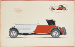 Willy VAN DEN PLAS  Cabriolet transformable Bugatti