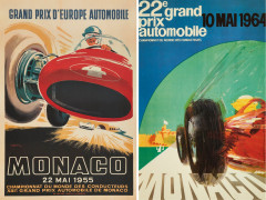 Jacques RAMEL ET J. MAY  Grand Prix de Monaco 1955 et 1964