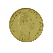 BRITISH EAST INDIA COMPANY. GUILLAUME IV (1830-1837). 2 mohur. 1835. (Fr. 1592B, KM 452.1). Or. Qques raies sinon Presque Superbe. R...