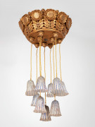 Paul FOLLOT & DAUM NANCY (1877-1941) Suspension - Circa 1922