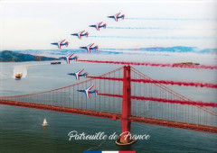 PATROUILLE DE FRANCE - US TOUR 2017 Julien Mortreuil (Né en 1983) Golden Gate