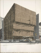 CHRISTO (Né en 1935) Whitney Museum of American Art, Packed, Project for New York - 1971