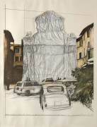 CHRISTO (Né en 1935) Packed Fountain and Packed Tower, Spoleto , 1968 - 1972