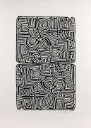 Keith HARING (1958 - 1990) The labyrinth - 1989