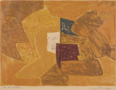 Serge POLIAKOFF (1900 - 1969) Composition en orange - 1956