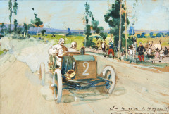 Gaston MAURIE 1872-1912 Circuit d'Auvergne - Coupe Gordon-Bennett 1905