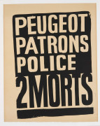 Peugeot. Patrons. Police. 2 morts - Mai 68