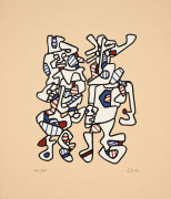 Jean DUBUFFET (1901 - 1985) Parade Nuptiale - 1972/73