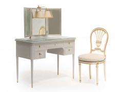 SUITE WINDSOR : COIFFEUSE ET CHAISE DE STYLE LOUIS XVI