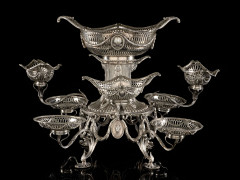 CENTRE DE TABLE EN ARGENT Par C.S. Harris & Sons Ltd, Londres 1911